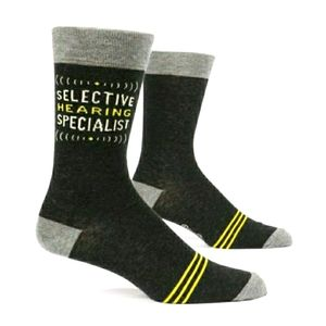 Blue Q Selective Hearing Specialist Socks